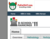 UI design for PaGaLGuY.com B-school Rankings 2011