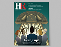 HR Magazine cover illustration