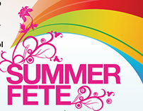 Primary School Summer Fete Banner & Poster Design