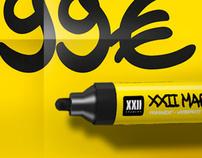 XXII Marker - Font