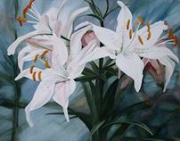 Botanical Watercolor Garden Landscape Paintings