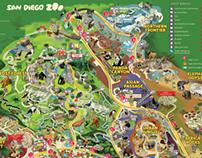 San Diego Zoo, California - Park Map