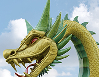 Dragon Sculpt for Kung Fu Panda at Dreamworld