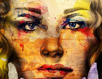 Digital paint illustration styles.