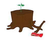 Las raíces del hacha