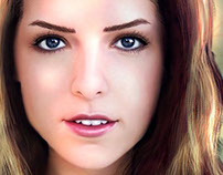 Anna Kendrick Digital Portrait (wip)