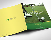 Charity Golf Booklet Publisher Word Template
