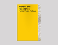 Wonder and Resonance: Fiction/Non-fiction, 2015