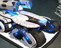 SciFi Military Vehicles 3D Model