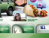 Taco Bell Drive Through Diet Microsite