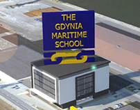 poster for new headquaters for th gdynia maritime schoo