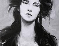 Alla prima portrait