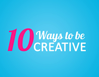 10 ways to be creative - school project