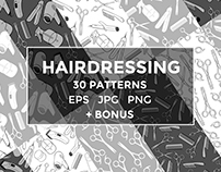 Hairdressing pattern set
