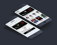 Movie app UI deisgn and ticket booking