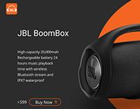 Landing Page Jbl boombox