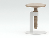 3d model and render Avvitamenti stool by Carlo Contin.