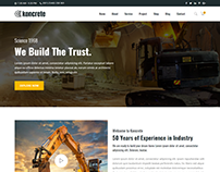 Koncrete - Construction Bootstrap 4 Template