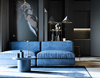Black- Blue apartments