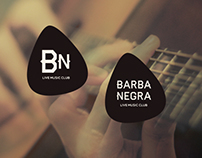 Barba Negra Live Music Club - guitar pick logo