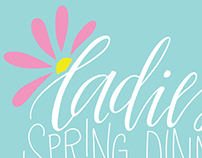 Ladies' Spring Dinner Event Branding