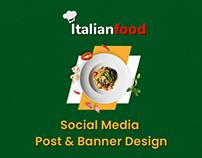 Social Media Post & Banner Design For Food Shop