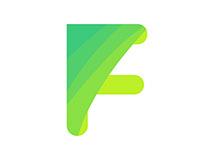 F Letter logo. Faser Brand logo design