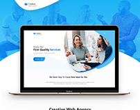 Creative web agency web page design