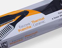 Embalagem para escova de cabelo - Modelo Prancha