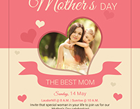 Free Mothers Day PSD Template
