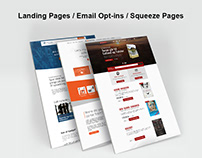 Landing Pages/Email Optins recently I did for my client