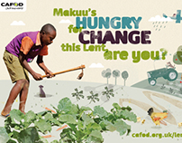 Lent 2013, CAFOD fundraising campaing