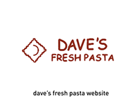 Dave's Fresh Pasta Website Redesign