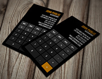 Accountant Calculator Business Cards