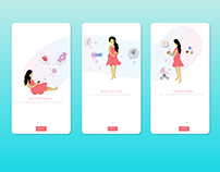 Women's Fertility Tracker app; Onboarding Illustration
