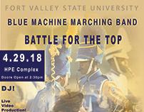 FVSU Blue Machine Marching Band Advertisement.