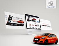 Peugeot Landing page.