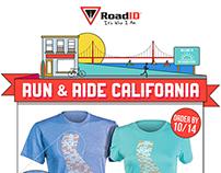 Road ID Custom Tee Shirt Email