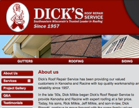 Home Page for Dick's Roofing