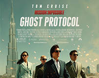 """""""Mission: Impossible - Ghost Protocol"""" / fan art poster"""