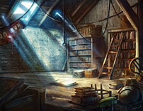 Finn's Library attic