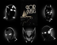 Noir Masks – Marvel/DC Heros masks in the spotlight!