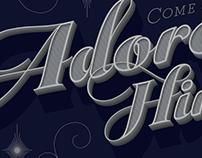Christmas Service Poster - Come & Adore Him