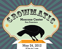 Poster, logo and branded item design for Crow Wise