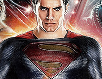 MAN OF STEEL Illustrated Poster