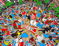 Fan Art 360° Where's Waldo?