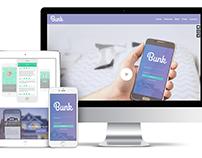 Bunk App Landing Page