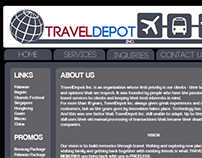 Web Design Project for Traveldepot Inc.