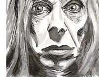 Ink portrait Iggy Pop