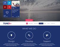 Tuner - One Page Portfolio PSD Template